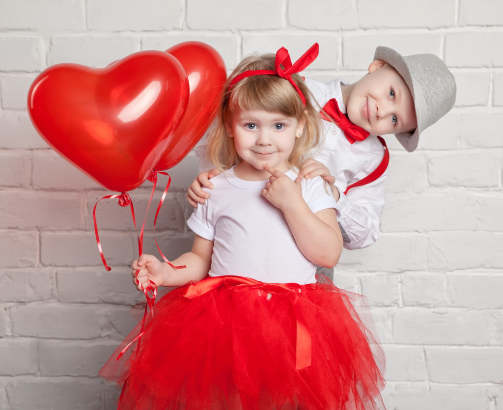 Little Girl Photo Shoot for Valentine's Day