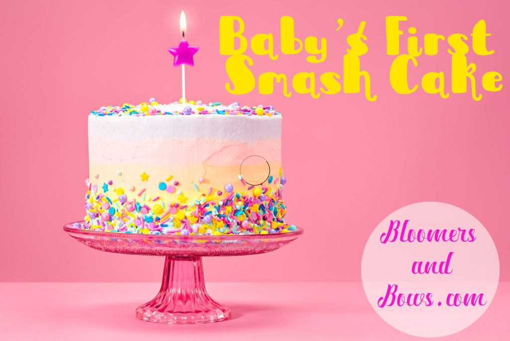 Baby's First Smash Cake | Bloomers and Bows