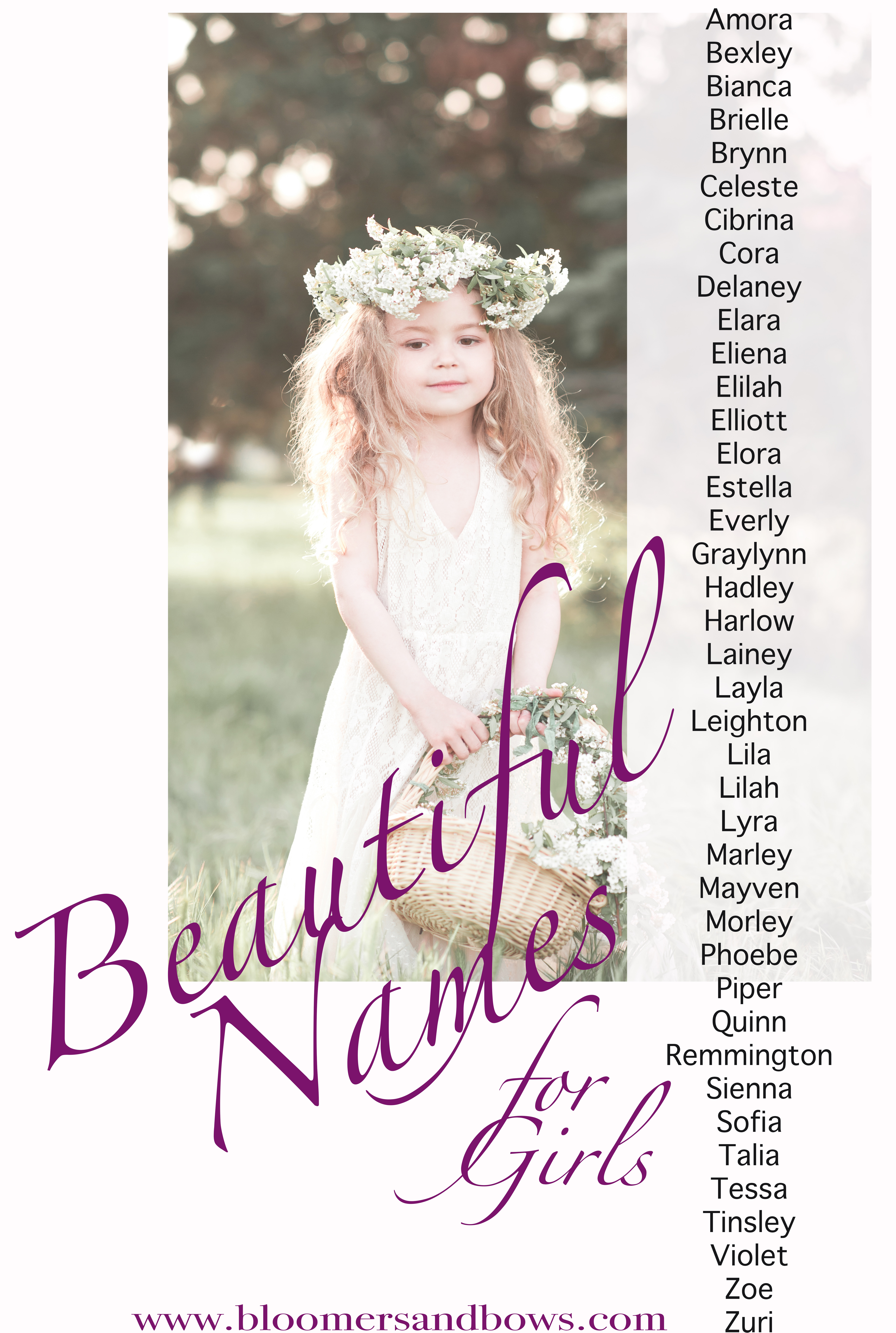 Boho and Flower Child Names for a Girl - Bloomers and Bows