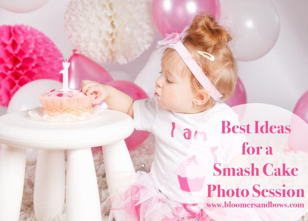 Best Ideas for a Baby Girl's Smash Cake Photo Session | Bloomers and Bows |www.bloomersandbows.com