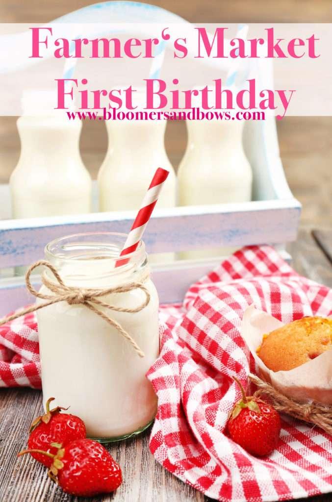 Farmer's Market First Birthday | Bloomers & Bows www.bloomersnadbows.com