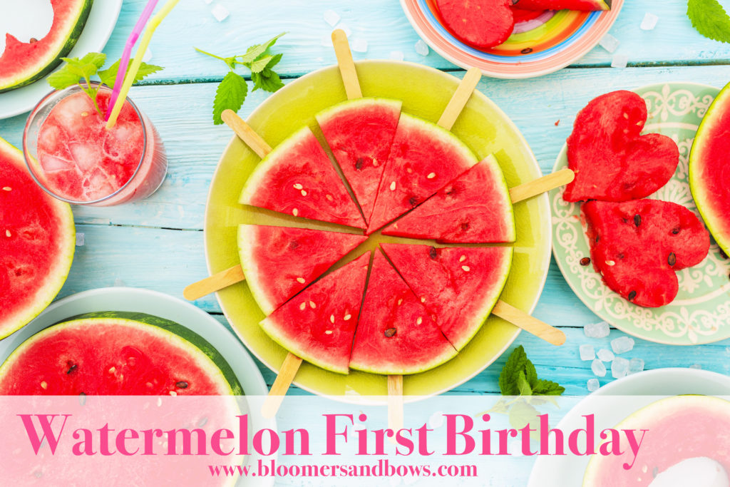Watermelon Theme for a First Birthday Party. | Bloomers and Bows www.bloomersandbows.com