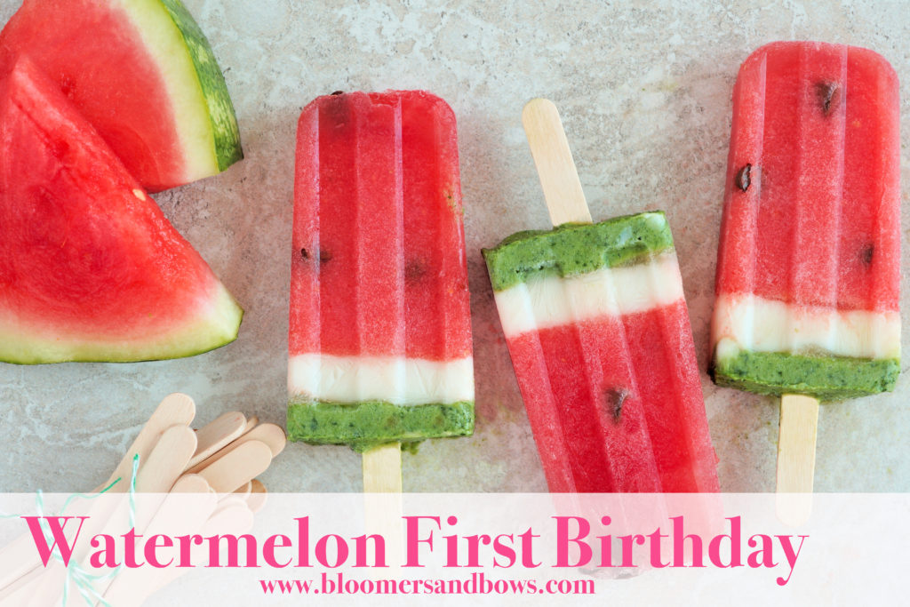 Watermelon Popsicles for a Watermelon Themed First Birthday | Bloomers and Bows