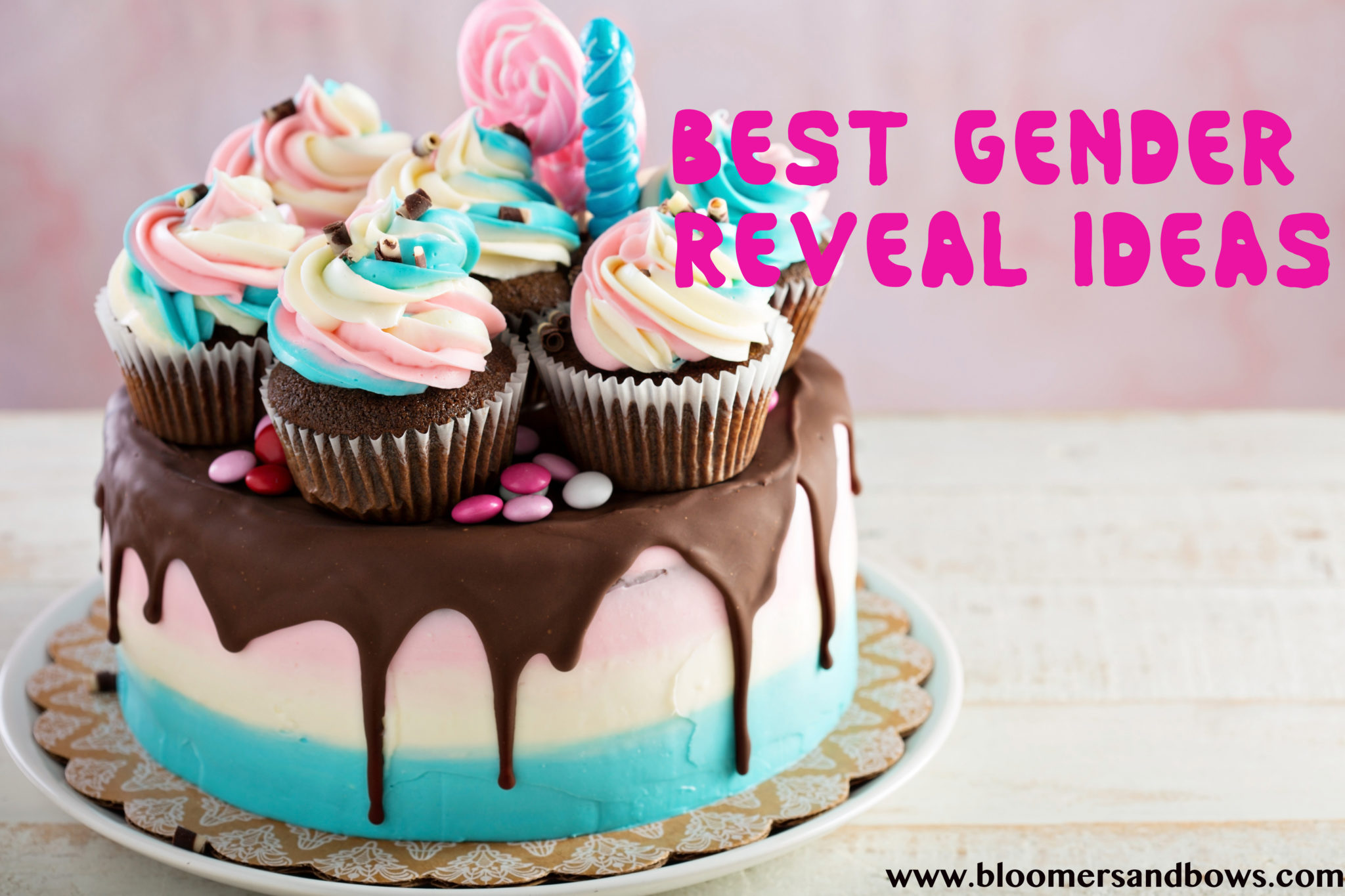 Gender Reveal Cake | Best Ideas or a Gender Reveal | Bloomers and Bows