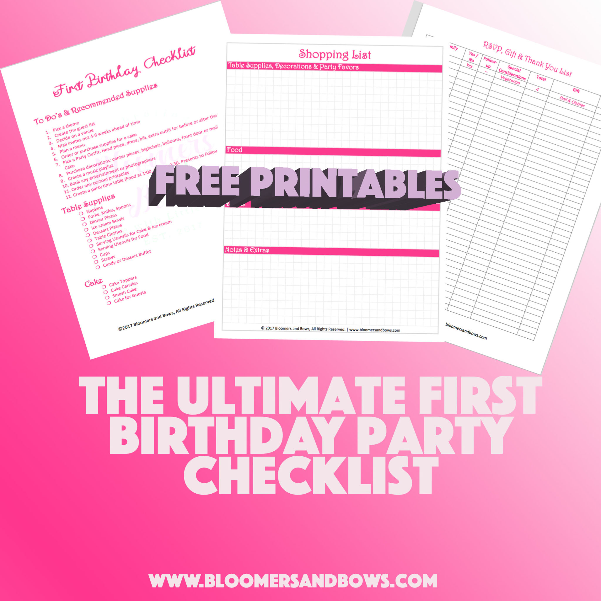 The Ultimate First Birthday Party Checklist