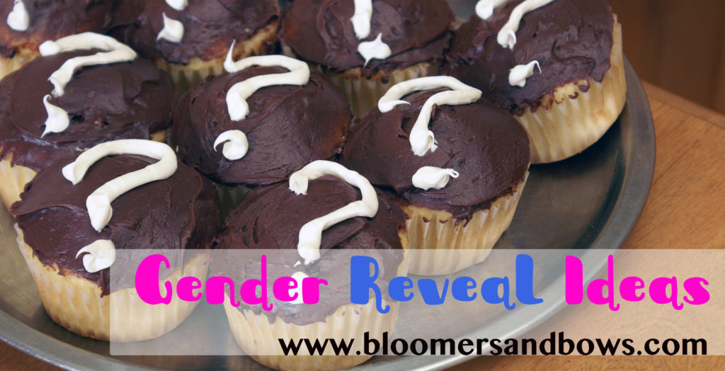 Gender Reveal Cupcakes and Other Ideas for an announcement | Bloomers and Bows | www.bloomersandbows.com