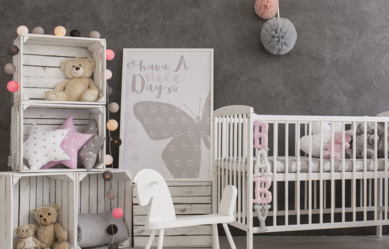 Beautiful Clic Gray White Pink Nursery Inspiration
