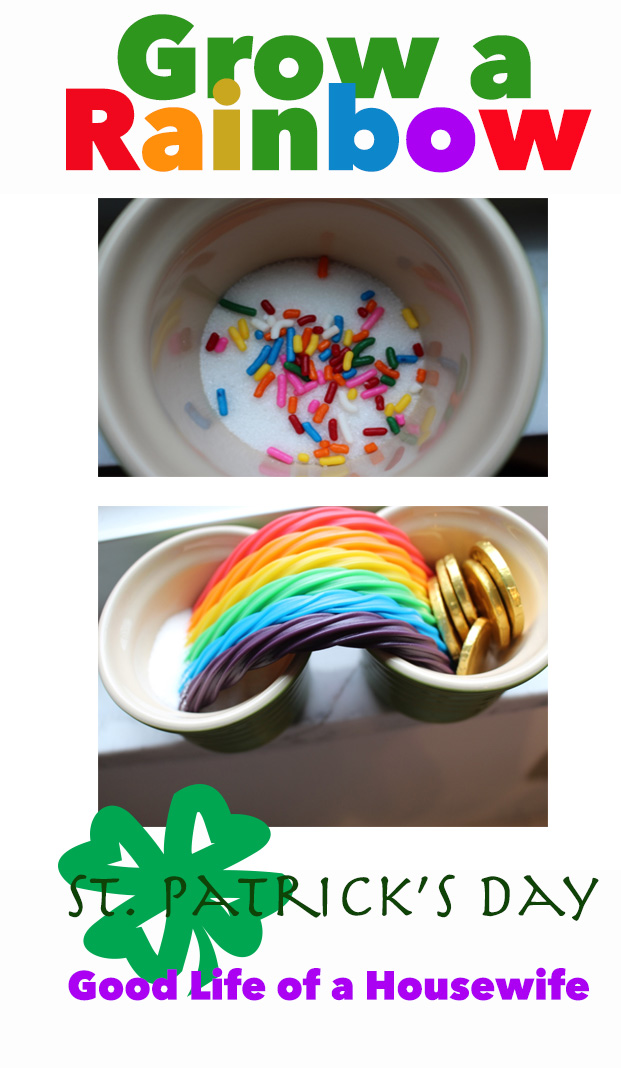 St Patricks Day Fun. How to Grow a Rainbow
